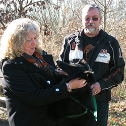 Warren and Sherry Walker with Rainy, New Columbia, PA